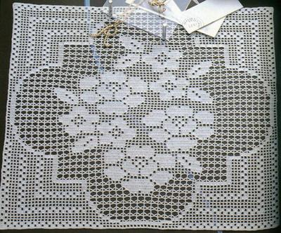 много схем филейного вязания