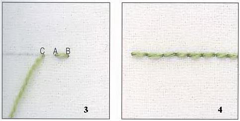 Схемы вышивки иголка назад